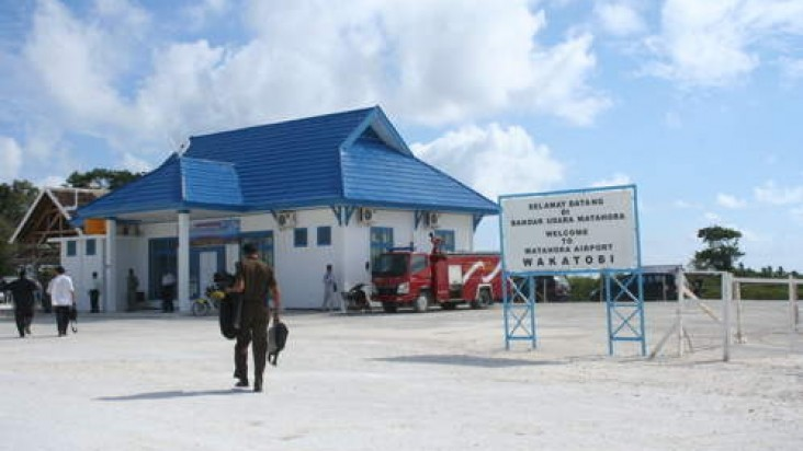 Foto Bandara di Matahora Wangi Wangi