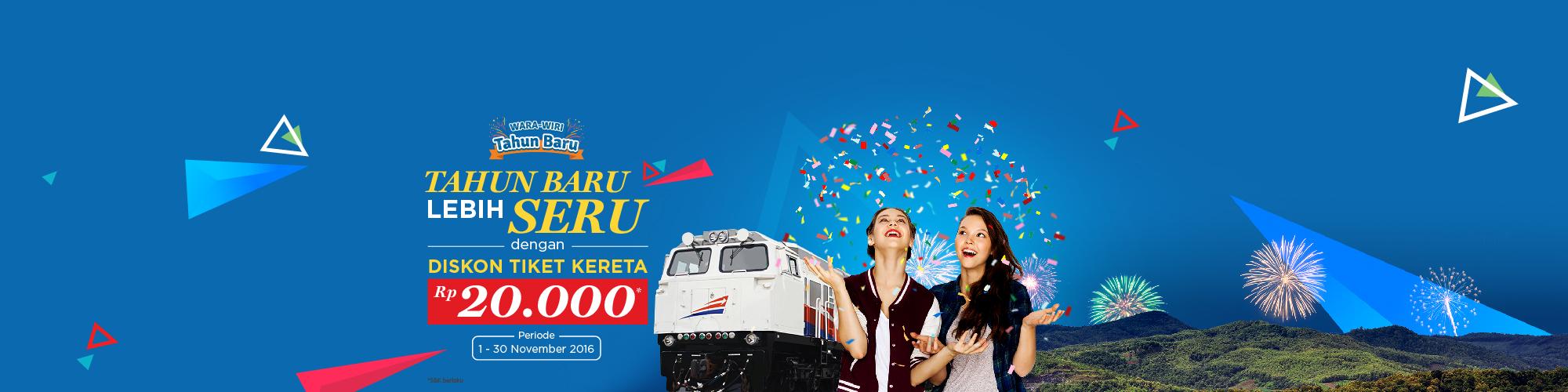 Wara-Wiri Merry happy! Diskon Train Desember