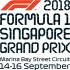 2018 FORMULA ONE SINGAPORE GRAND PRIX - 3-Day Combination Packages