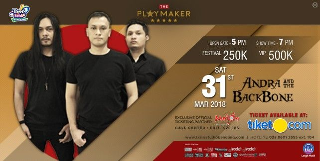 harga tiket ANDRA AND THE BACKBONE 2018