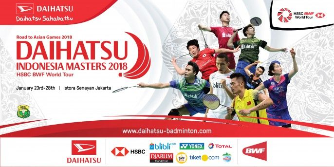 harga tiket Daihatsu Badminton Indonesia Master 2018