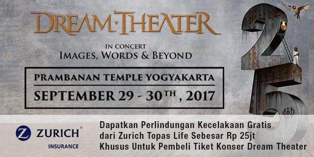 harga tiket Dream Theater JOGJAROCKARTA 2017