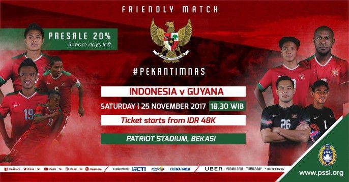 harga tiket SEPAK BOLA INDONESIA VS GUYANA