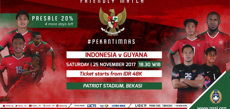 SEPAK BOLA INDONESIA VS GUYANA