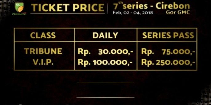 harga tiket INDONESIAN BASKETBALL LEAGUE - SERIES 7 CIREBON 2018