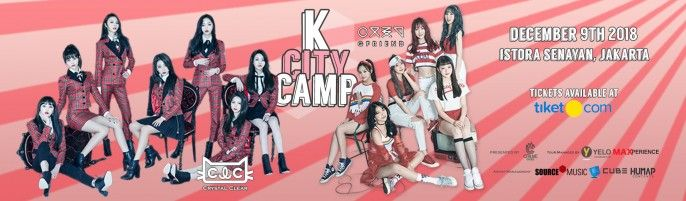 harga tiket K City Camps - Gfriend & CLC 2018
