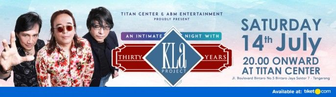 harga tiket Konser An Intimate Night With KLA Project 2018