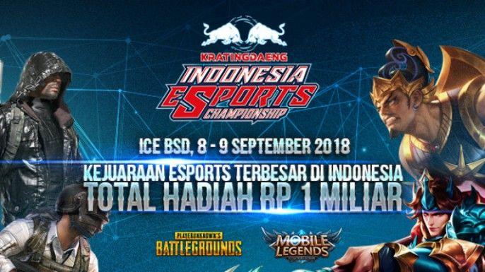 harga tiket Kratingdaeng Indonesia Esport Championship 2018