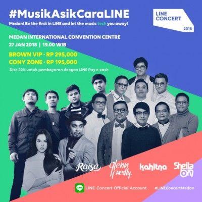 harga tiket Line Concert 2018