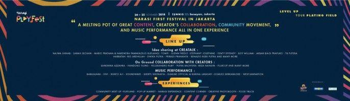 harga tiket Narasi Playfest 2018