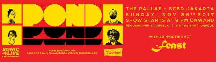 harga tiket Pond Live In Jakarta 2017