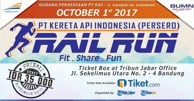 harga tiket Rail Run - Fit Share Fun
