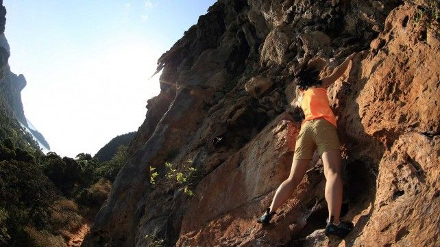 Rock Climbing at the Via Ferrata