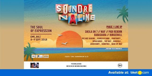 harga tiket SOUNDRENALINE 2018